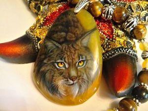 Рыська – кулон с дикой, но очаровательной Кошкой. Ярмарка Мастеров - ручная работа, handmade.