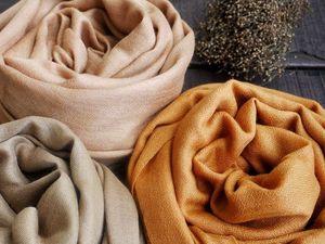 Нежная шаль-пашмина (100% пух тибетской козочки). Ярмарка Мастеров - ручная работа, handmade.