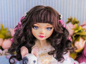 Робин авторская, интерьерная кукла, будуарная кукла, декор дома, подарок любимой, подарок на день рождения, текстильная кукла. Ярмарка Мастеров - ручная работа, handmade.