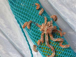 Мастер-класс: ваяжем пляжную сумку-сетку «Охраняющий воду». Ярмарка Мастеров - ручная работа, handmade.