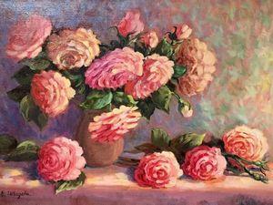 Розовое тепло — новая картина маслом!. Ярмарка Мастеров - ручная работа, handmade.