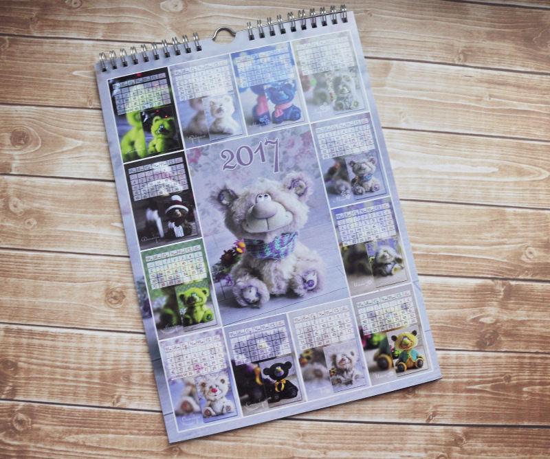 настенный календарь, заказы