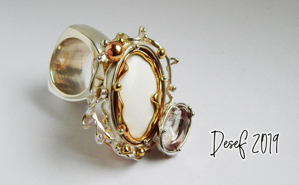 кольцо, ручнаяработа, хрусталь