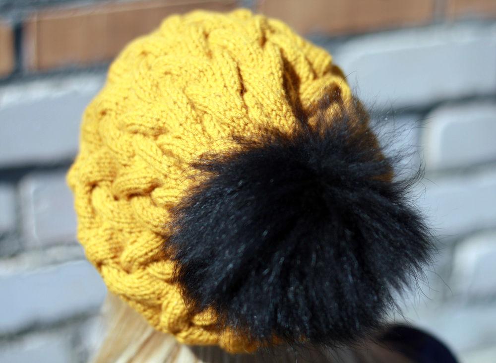 шапка вязаная, шапка зимняя