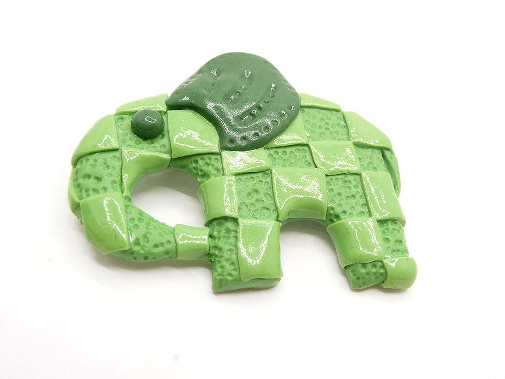 новинка, слоник, зеленый слон, кулон