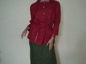 Жакет с юбкой из льна. Ярмарка Мастеров - ручная работа, handmade.