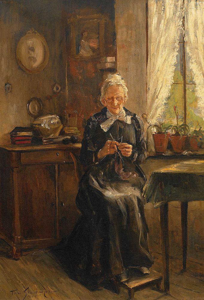 Когда есть чем заняться — стареть некогда: душевные картины о бабушках-рукодельницах, фото № 11