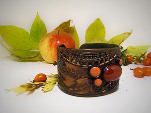 Делаем кожаный браслет «Прелюдия осени» | Ярмарка Мастеров - ручная работа, handmade