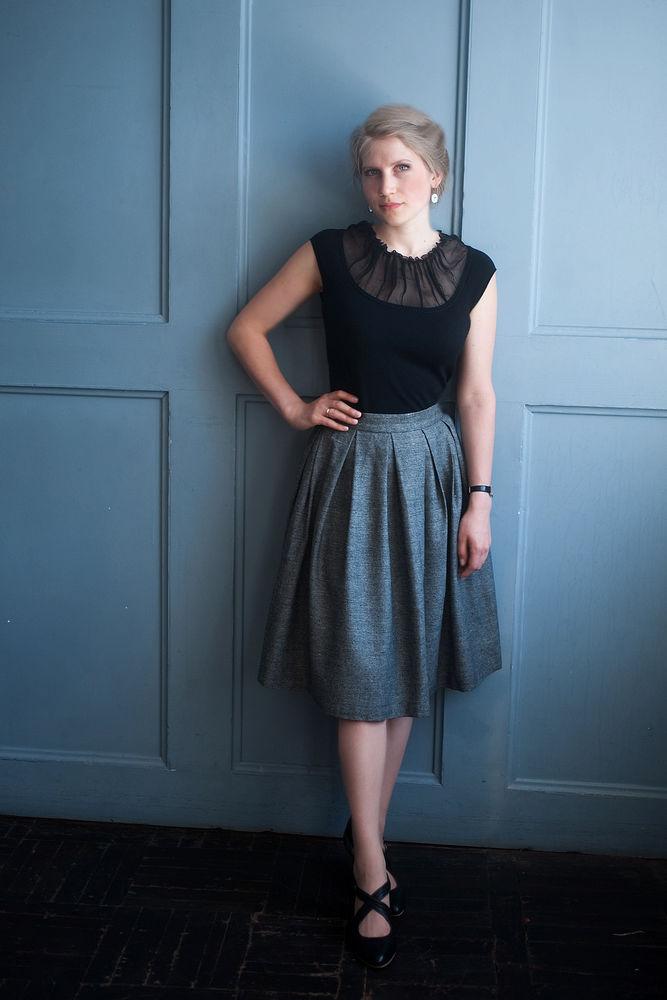 скидки, тёплая юбка, юбка со складками, юбка на зиму, юбка до колена, бежевая юбка, юбка на осень