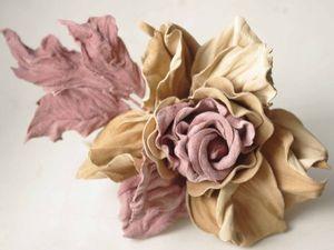 Обыкновенное чудо. Цветы из кожи. Ярмарка Мастеров - ручная работа, handmade.