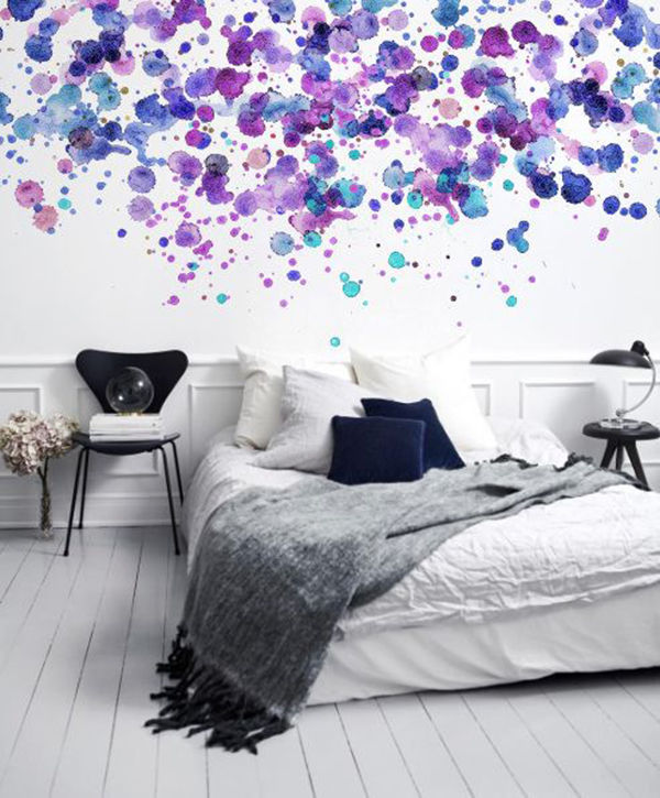 The Tenderest Interior: Abstract Watercolours on Modern Wallpapers, фото № 11