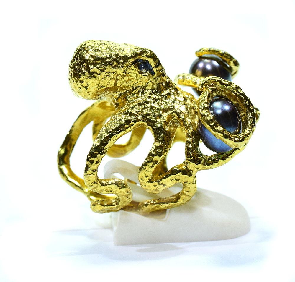 кольцо с осьминогом