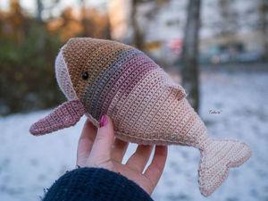 Вязаный кит Анабель. Ярмарка Мастеров - ручная работа, handmade.