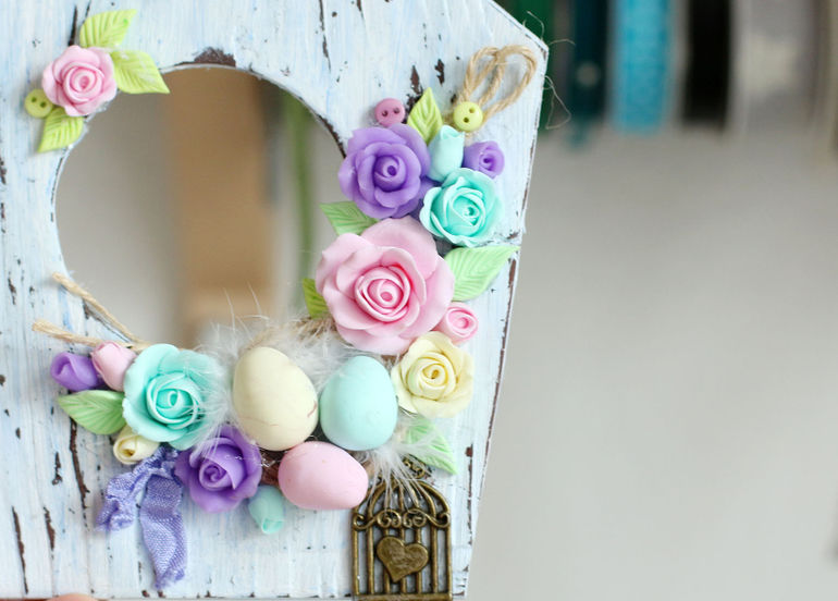 Making a Cute Easter Decoration of Polymer Clay, фото № 10