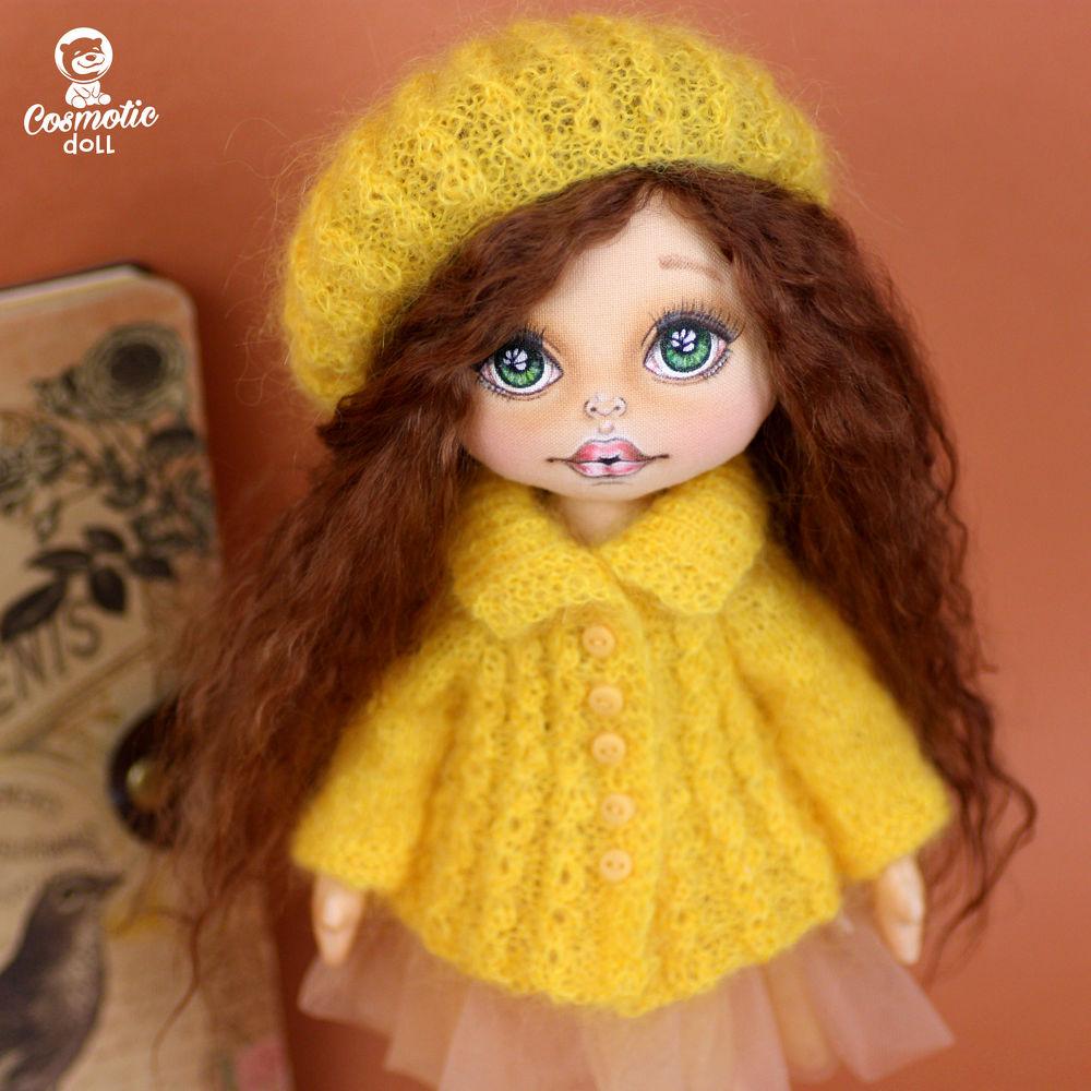 кукла на день рождения, подвижная кукла из ткани