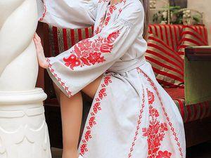 Скидка!!! Платье для венчания. Натуральный лен. Вышивка. | Ярмарка Мастеров - ручная работа, handmade