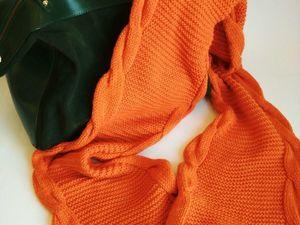 Шарф оранжевое настроение!!!!!. Ярмарка Мастеров - ручная работа, handmade.