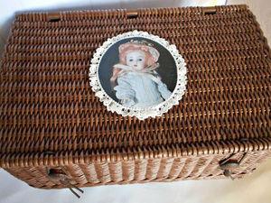 Плетеный короб - шкатулка для антикварной куклы и ее гардероба. Ярмарка Мастеров - ручная работа, handmade.