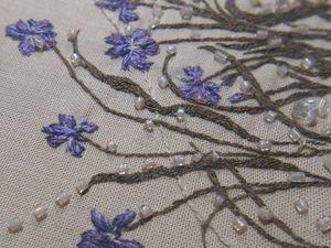 Вышивка на платье для Клавдии. Ярмарка Мастеров - ручная работа, handmade.