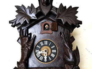 Большие Деревянные Механические Часы с Кукушкой на Стену Винтаж Германия. Ярмарка Мастеров - ручная работа, handmade.