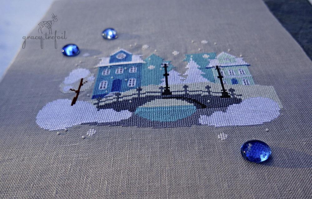 вышивка крестом город