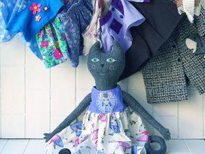 Видео с большой кошечкой с одеждой. Ярмарка Мастеров - ручная работа, handmade.