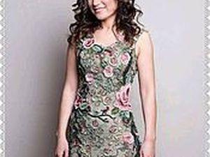 Платье ЭДЕМ связано по мк Аси Вертен. Ярмарка Мастеров - ручная работа, handmade.