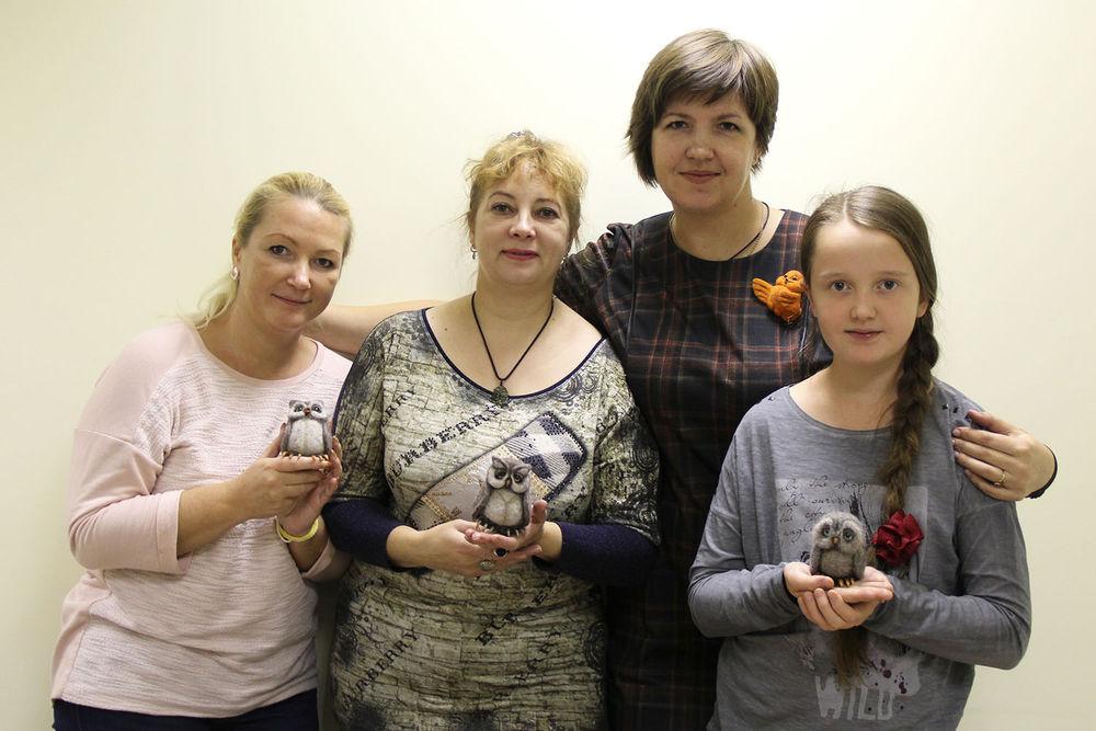 Отчет о мастер-классе Елены Колтуновой по валянию совенка, фото № 8