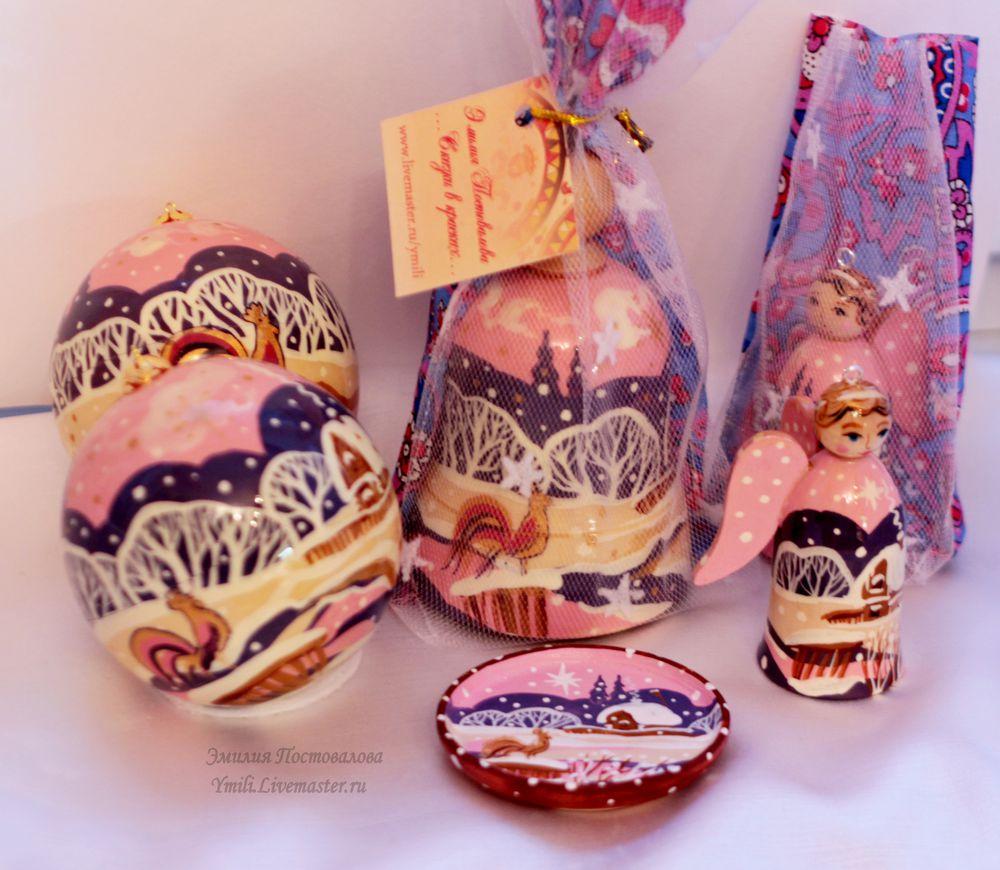 набор новогодний, петушок, новогодние сувениры, эмилия постовалова, рождественский декор