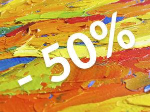 Скидка июля — 50% на все картины !. Ярмарка Мастеров - ручная работа, handmade.