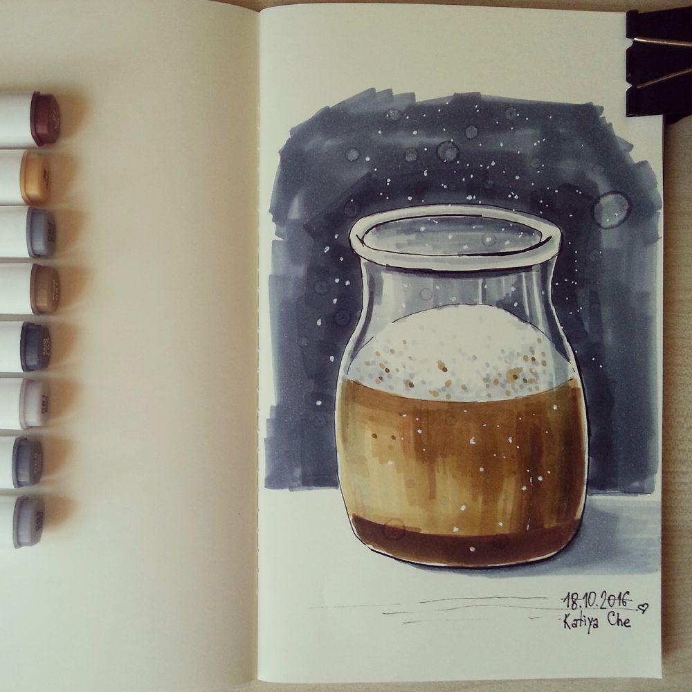 маркеры, кофейня