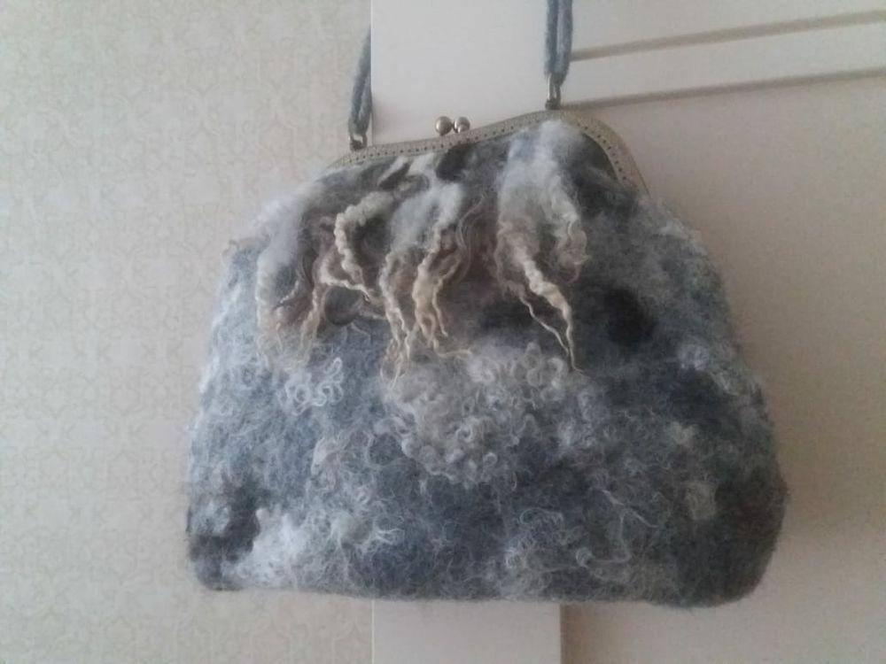 Изящная валяная сумочка с фермуаром, фото № 22