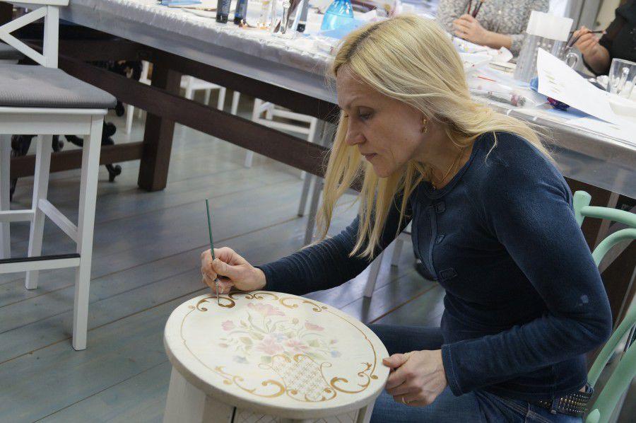 обучение росписи мебели, обучение строганова
