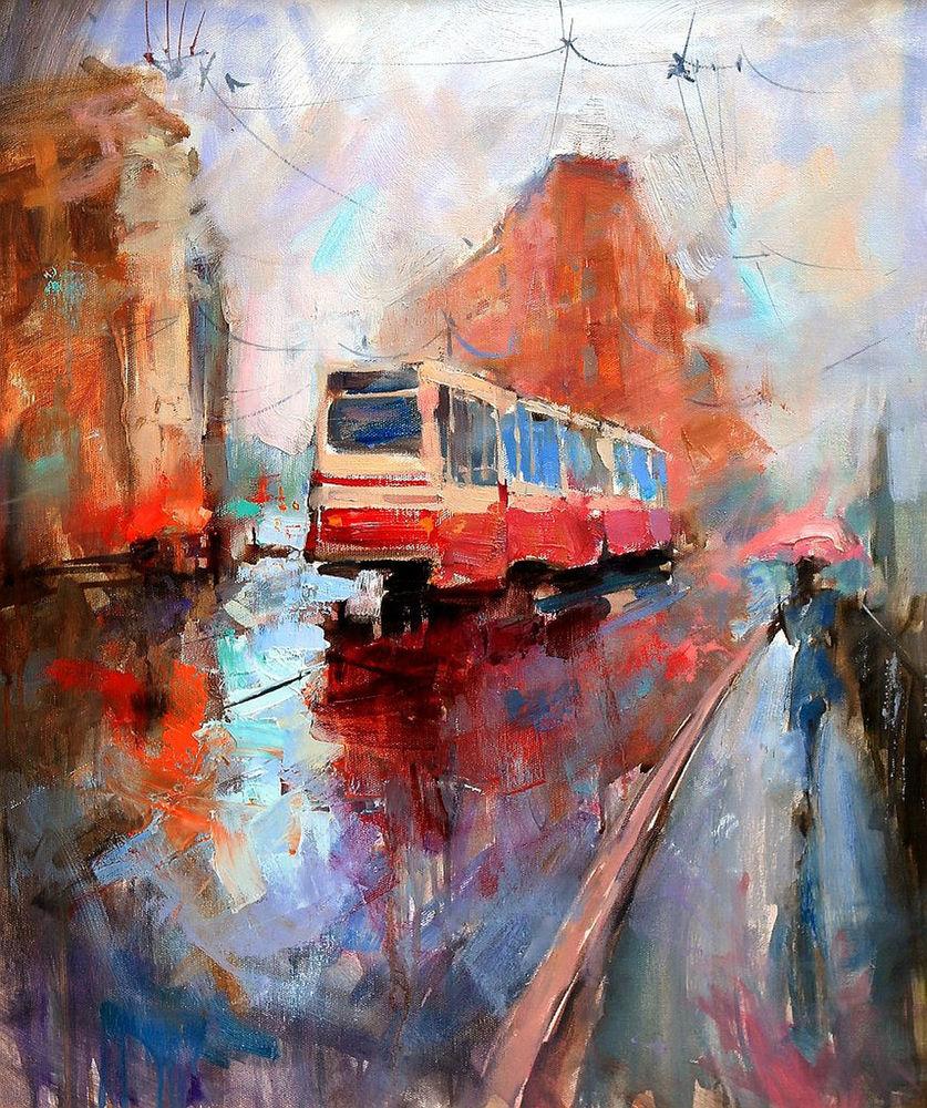 Konstantin Sukhopluev: Artist Painting Rain, фото № 11