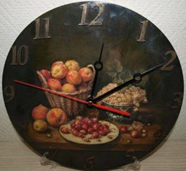 объемный декупаж, дорисовка, объемные часы