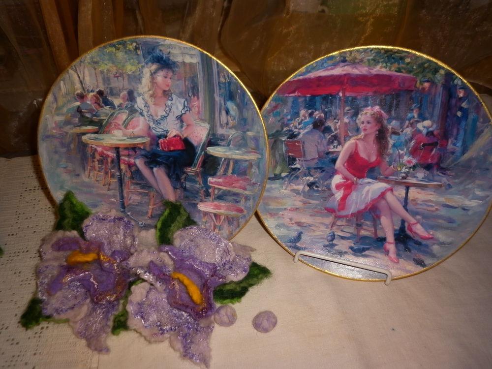 тарелочки с девушками, тарелка настенная, тарелочки