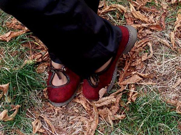Валяная демисезонная обувь в городе. | Ярмарка Мастеров - ручная работа, handmade