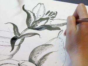 Натюрморт. Графика. МК по живописи. | Ярмарка Мастеров - ручная работа, handmade