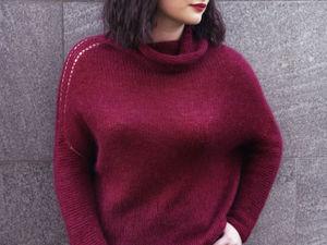 Новый свитер из кид-мохера и кашемира с  шелком!. Ярмарка Мастеров - ручная работа, handmade.