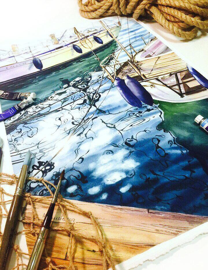 мастер-класс по живописи, зима, школа рисования, курсы рисования