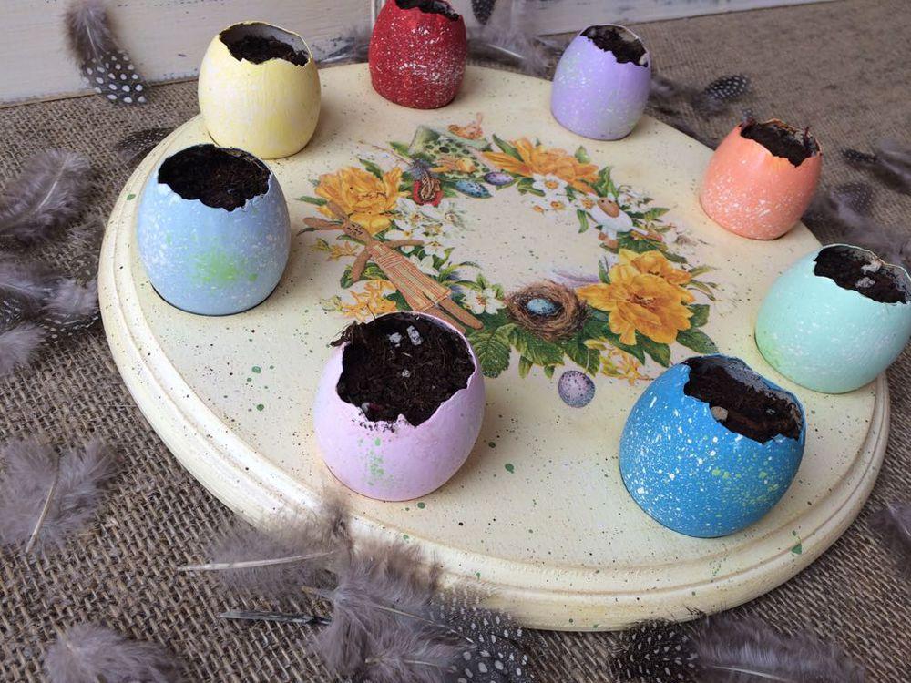 пасхальные яйца, пасхальный кролик, идеи для творчества, идеи декора, венок, яйцо
