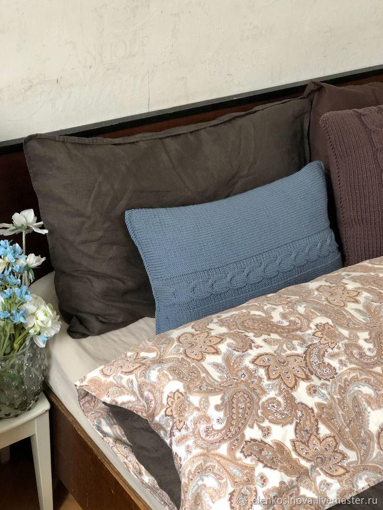 Вяжем наволочку спицами для подушки 30 на 50 см, фото № 18