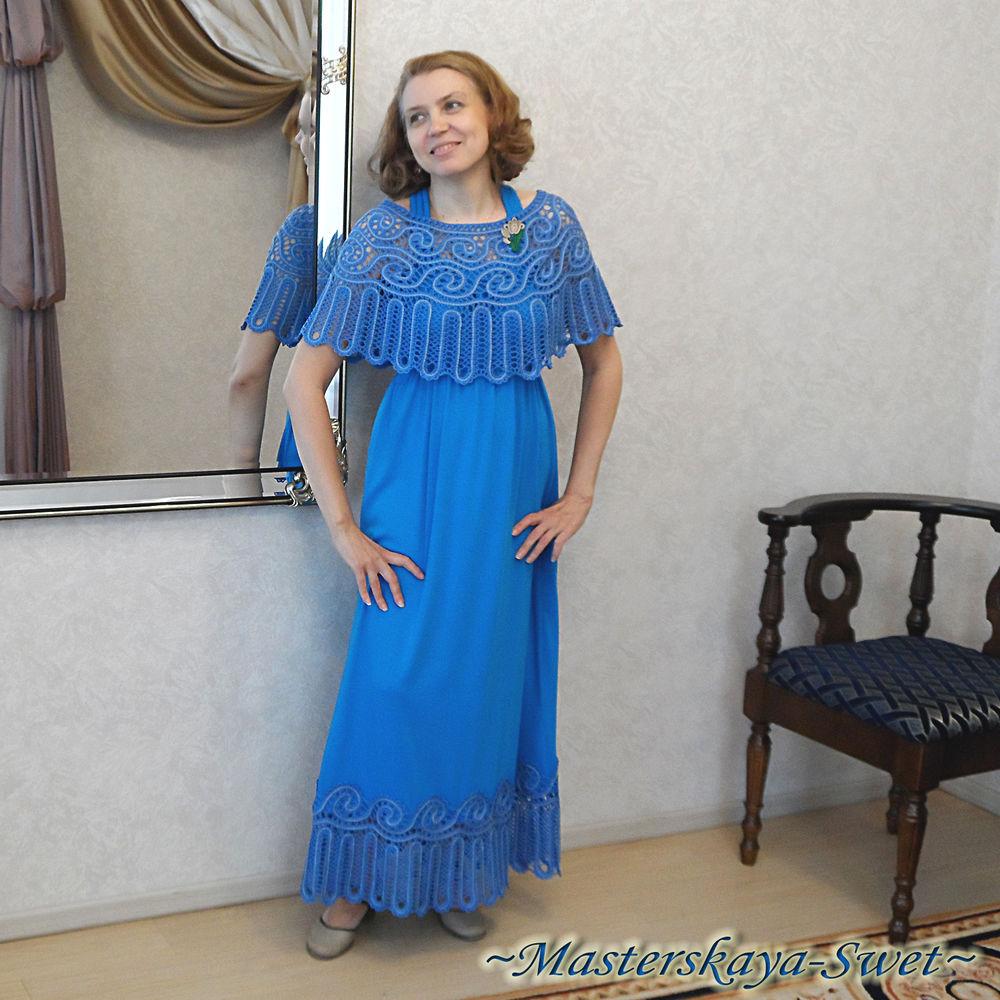 пелерина, платье на выпускной