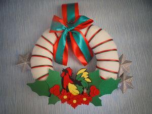 Мастер-класс: текстильный новогодний венок с символом 2017 года. Ярмарка Мастеров - ручная работа, handmade.