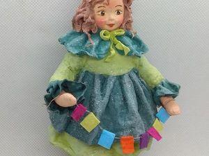 елочная игрушка из ваты Девочка-Ёлочка. Ярмарка Мастеров - ручная работа, handmade.