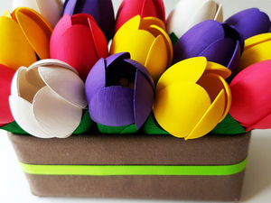 Видео мастер-класс: создаем весенние тюльпаны из пластиковых ложек. Ярмарка Мастеров - ручная работа, handmade.