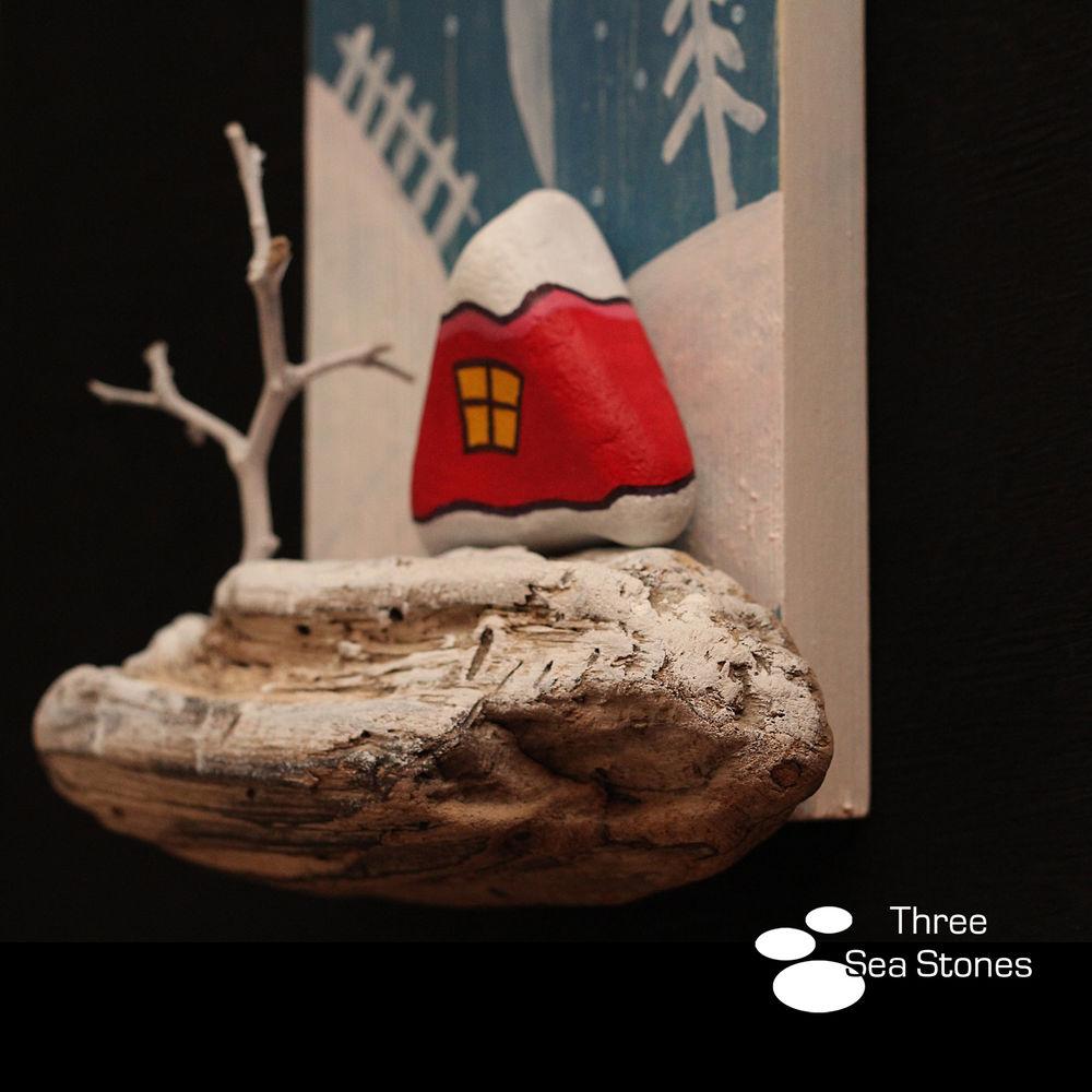 три камушка, андрей кобелев, панно, уникальные, деревянные, термометр, домик, дерево