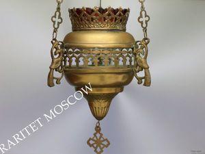 РЕДКОСТЬ Лампада антикварная бронза латунь птица 2 | Ярмарка Мастеров - ручная работа, handmade