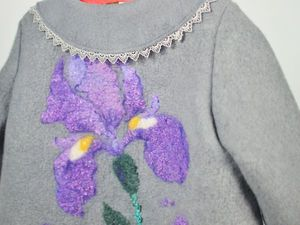 Ирисы. Пальто для принцессы) | Ярмарка Мастеров - ручная работа, handmade