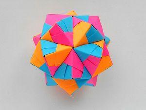 Собираем многогранник из бумаги. Оригами Икосаэдр. Ярмарка Мастеров - ручная работа, handmade.